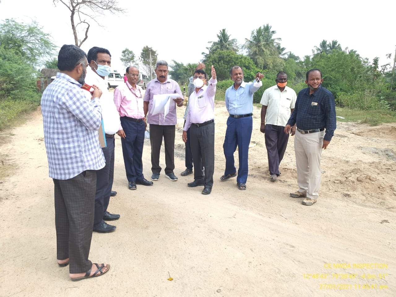 On site visit of PPC link project