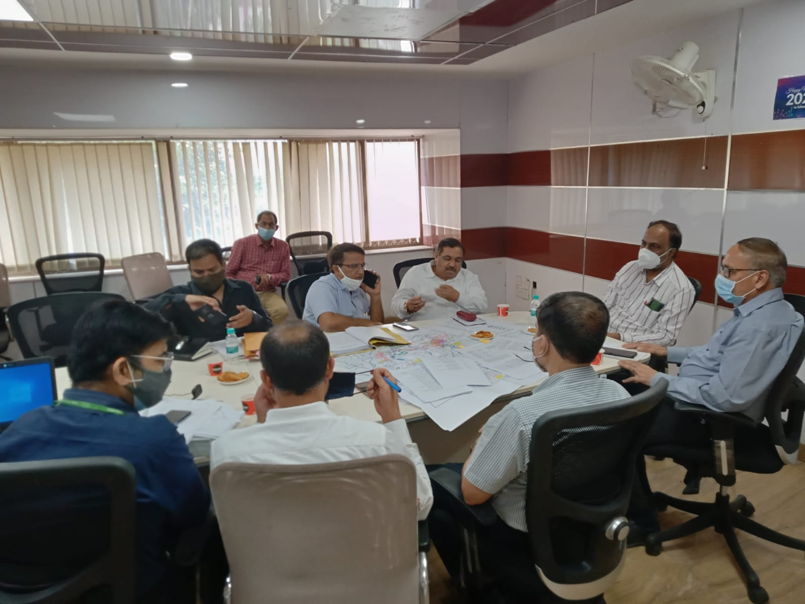 Senior Officers of CWC, NWDA and State Govt of MP on 24-09-2021(reg KBLP)
